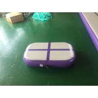 Cheap Professional Air Jumping Track Purple Inflatable Air Board Air Block For Gymnastics for sale