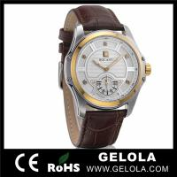 Watch With Crystal Leather Strap