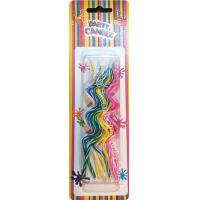 Cheap Novel Swirl Shaped Shaped Birthday Candles 5 Colors Pink Blue Yellow Green White for sale