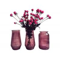 China Modern Decorative Glass Vases / Large Decorative Clear Glass Vases on sale