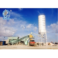 China Stationary Type Concrete Batching Plant / Fixed Concrete Batch Mix Plant on sale