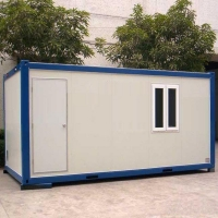 China 20ft 40ft Prefabricated Movable Flat Pack Containers Office on sale