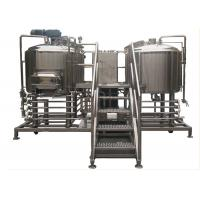 5BBL Craft Beer Brewing System PU Foam Insulation With 2 Stainless Steel Vessels