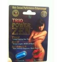 China Trio Power Zen Sex Capsules Natural Male Enhancement Pills / Sex Capsule For Long Time on sale