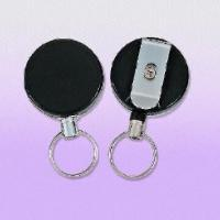 Cheap Heavy-duty Clip-on Badge Reels with 60cm Long Pull Metal Wire, Customized Logos are Welcome for sale