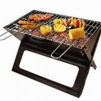 Cheap Black Portable Charcoal Grill, for Beach Camping, Compact for sale