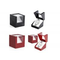 Buy cheap Presentation Gift Paper Watch Box Black / Red Custom Logo Color High - Grade from wholesalers