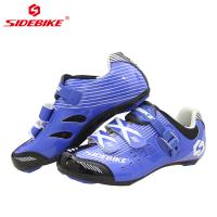 China Blue SPD Indoor Cycling Shoes / Sidebike Flagship Store Breathable Non Slip Cycling Shoes For Peloton on sale