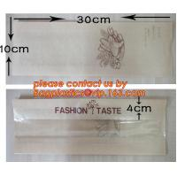 Cheap OEM High Quality Enviromental Clear Window Bread Toast Paper Bags, Brown Kraft Sharp Bottom Food Safe Snack Paper Bags for sale