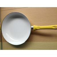 China 28cm White Ceramic Coating Stamped Fry Pan With Induction Bottom on sale