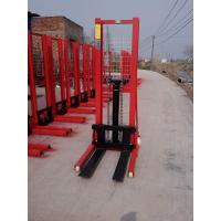 Cheap Manual stacker hydraulic lift with double forks lift height 3000mm for sale