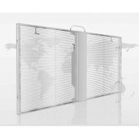 Cheap Clear See Through LED Screen , Transparent Glass Led Display Easy Installation for sale