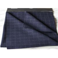 Cheap Window Pane Suit Medium Tartan Wool Fabric British Style Navy With White Line for sale
