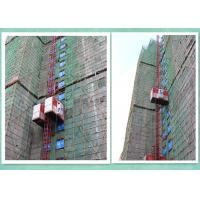 Rack And Pinion Twin Cage Industrial Elevator Lift For High Rise Building Construction