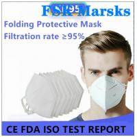 Cheap Enlarged Foldable N95 Dust Mask Excellent Bacterial Filtration Melt Blown for sale