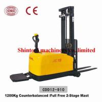 Cheap 1.2 Ton Powered Electric Pallet Stacker With CURTIS 1230 Controller CDD12-910 for sale