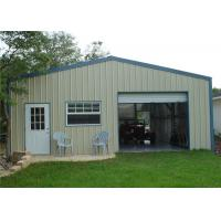 Cheap Fire Resistant  Metal Shed Garage Building / Steel Storage Garage With Electric Gate for sale