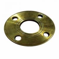 Buy cheap BS10 TABLE E Carbon Steel Flat Welding Flange 1 / 2 To 24 Inch With Yellow Paint from wholesalers