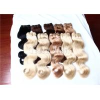 Cheap Full Cuticles Blonde 100% Brazilian Human Hair Extensions With Double Drawn for sale