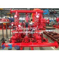 China High Prcision Fire Water Pump Package , Fire Pump Skid Package 500GPM@105PSI on sale