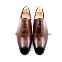 Cheap Handmade Leather Shoes In Brown Color, Goodyear Craft Shoes for sale