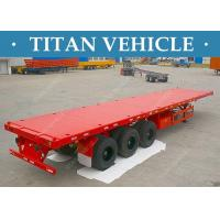 Cheap Heavy Duty 3 Axle Flatbed Semi Trailer , 40 Feet Container Trailer for sale