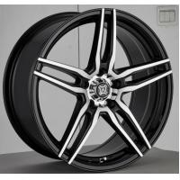 China 17 Inch Aftermarket Alloy Wheels Black Painted with Machined Face Aluminum A356 Five Split Spokes on sale