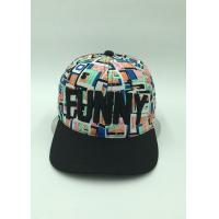 Plaid Embroidery Floral Snapback Hats / Flat Snapback Hats With Words Outside