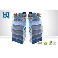 Cheap Beautiful promotional corrugated cardboard display stand for cosmetic for sale
