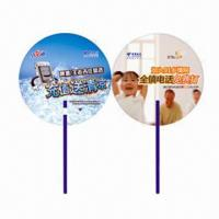 Cheap Hand Fans for Promotional Purposes, Customer's Logos Printings are Available, Made of PP for sale
