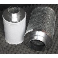 China Aluminum Flange Activated Carbon Air Filter , Grow Tent Odor Control on sale