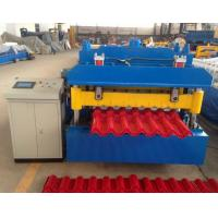 Cheap Steel Step Tile Making Machinery / Glazed Tile Cold Rolled Forming Machine for sale