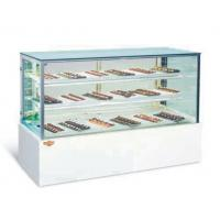 Cheap Curved Glass Refrigerated Bakery Display Showcase With 2 / 3 Layers for sale
