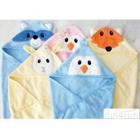 Cheap 300gsm Personalized Hooded Baby Towels Animals Pattern For Beach / Bath for sale