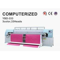 China Tricolor Computerized Embroidery Machine , Automatic Quilting Machine Easy Operation on sale