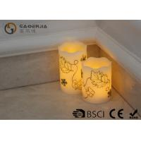 Cheap Luxury Carved Craft real Wax led Candles with flower pattern , painting candle for sale