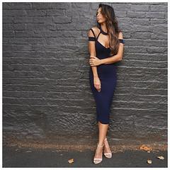 Cheap Eco - Friendly Black Bandage Skirt , Bandage Halter Dress Breathable wholesale
