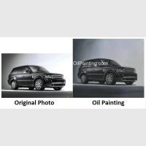 China Custom Car Portraits , Oil Portraits From Photographs Range Rover Car on sale
