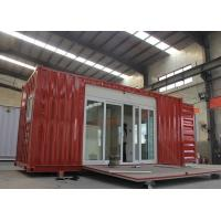 Cheap Modified Shipping Container House With Electrical Platform Wind Resistance for sale