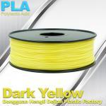 Cheap Makerbot Material Fluorescent Dark Yellow PLA 3d Printer Filament 1.75mm / 3.0mm for sale