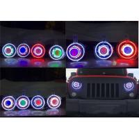 """Cheap Jeep JK Wrangler 7"""" HID & LED Headlights 7 Color Options for sale"""