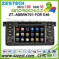 China ZESTECH 2 Din Car Radio for BMW E46 Android 4.2.2 with gps Capacitive Touch Screen Multipoint on sale