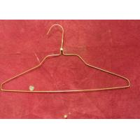 Cheap Fashion White Clothes Wire Hangers 1.8mm - 2.0mm Thickness For Supermarket for sale