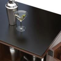 China China glass manufacturer supply high quality dark grey tempered table top glass on sale
