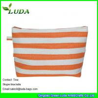 Cheap lady paper straw purse striped straw clutch bags for sale