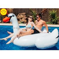 Cheap White Inflatable Water Floats , Inflatable Swan Pool Toy For Two Adult for sale