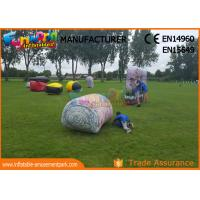 Cheap Military Inflatable Paintball Bunkers / Laser Tag Air Bunkers Paintball Barriers for sale