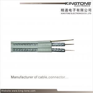 75 Ohms Dual CATV RG6 Coaxial Cable 60% AL Braiding for CCTV, CATV