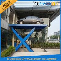 Cheap Home Garage Hydraulic Scissor Car Lift , Automotive Vehicle Lifts Equipment for sale