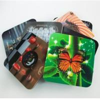 Cheap 2020 fashion christmas 3D Lenticular greeting cards,glitter printing cards 3D lenticular postcard for sale